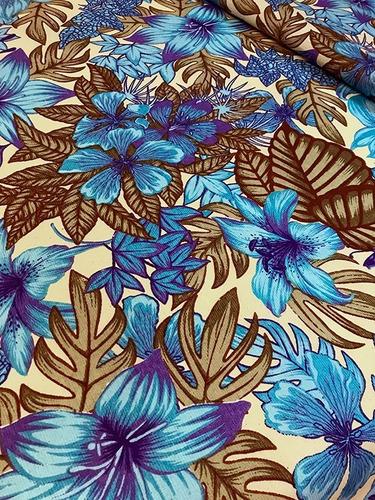 Imagem 1 de 3 de Tecido Para Almofada Floral Florido Primavera 3m
