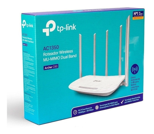 Router 5 Antenas Tp-link Archer Ac1350 C60 Doble Banda