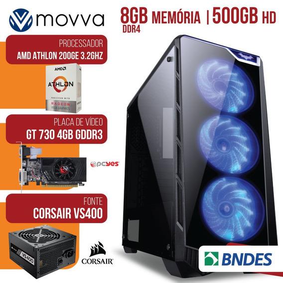 Computador Gamer Athlon 200ge 3.2ghz. Mem. 8gb Ddr4 (2x 4gb