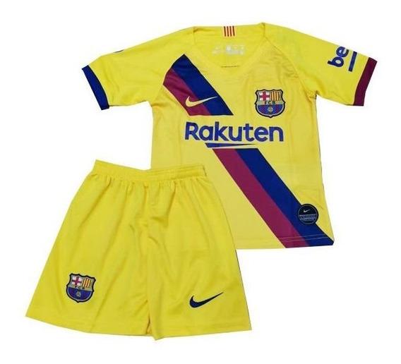 Camisa Ou Kit Infantil Do Barcelona Com Frete E Personalização Gratís Para Todo Brasil - Leia O Anuncio Antes Da Compra