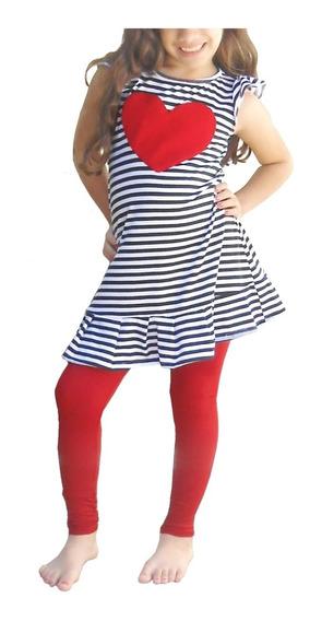Blusas Short Conjuntos Vestidos De Niña Leggins 2-4-6-8-10