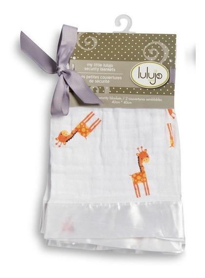 Paquete 2 Mantitas De Seguridad - Girafa Naranja Lulujo