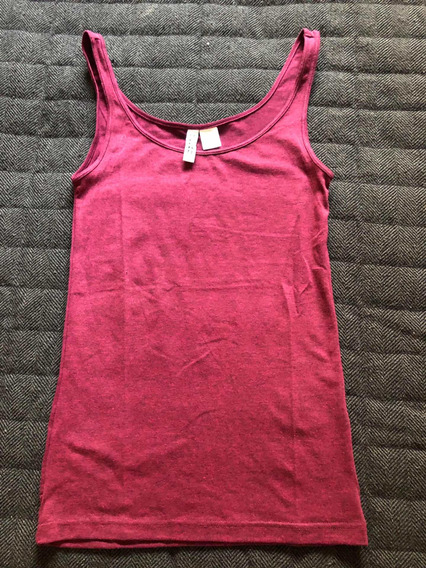 Remera Mujer Musculosa Fucsia - Divided H&m - Talle S