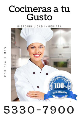 Las Mejores Cocineras Con Disponibilidad Inmediata!