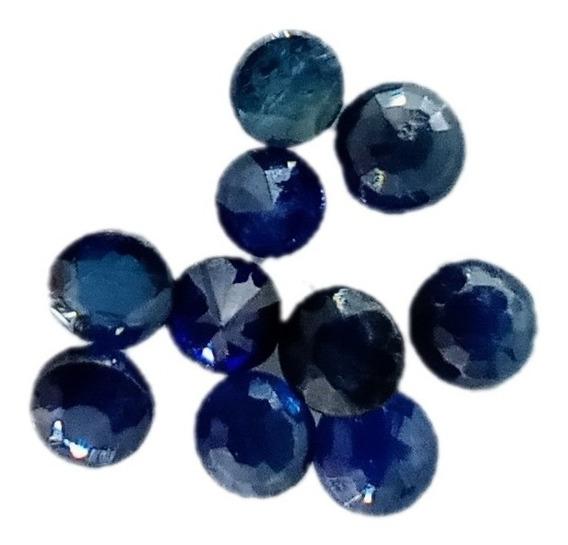 Safira Azul Redonda Natural 3 Mm Aa