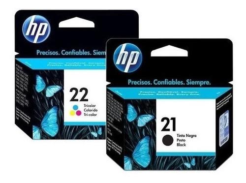 Imagem 1 de 5 de Kit Cartucho 21 E 22 Para Impressora Hp Colorido + Preto
