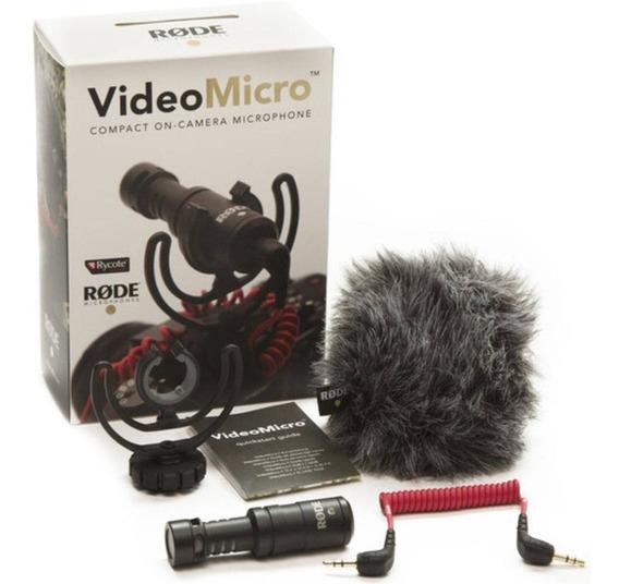 Microfone Rode Micro Shotgun Canon Nikon Sony