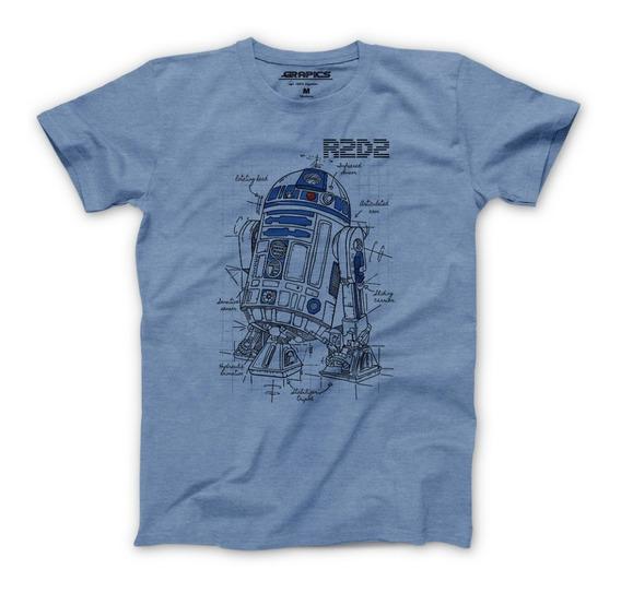 Playera Grapics R2d2 Robot Camiseta Geek Star Wars