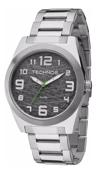 Relógio Technos Masculino Militar 2035mfl/1c Prata Oferta