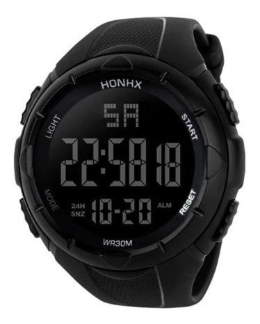 Relógio Esportivo Resistente A Água Digital Cronometro Preto