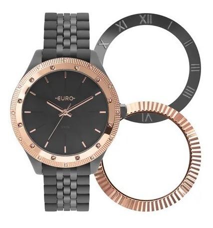 Relógio Feminino Euro Chumbo Eu2045ypo/t4c Troca Aro Chumbo