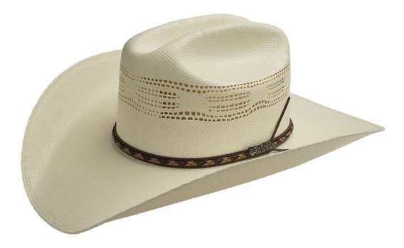 Sombrero Vaquero Para Hombre Diseño Randado Con Toquilla De Vaqueta Café Mod. Calgary De Rio Grande Calidad 15x
