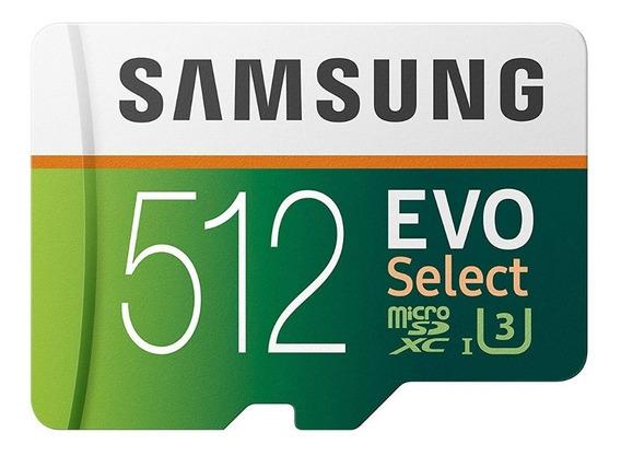 Cartão De Memória Microsd Samsung 512gb 100mb Evo Select