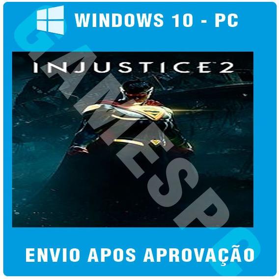 Injustice 2 Pc Original Windows 10 Jogue Online