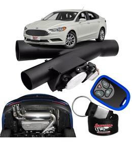 Difusor De Escapamento Esportivo Preto Fosco - Ford Fusion