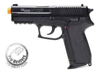 Pistola Airsoft Mola Spring Sig Sauer 2022 + 100 Bbs