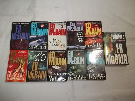 Lote 11 Livros Ed Mcbain Em Inglês Romances Pocket