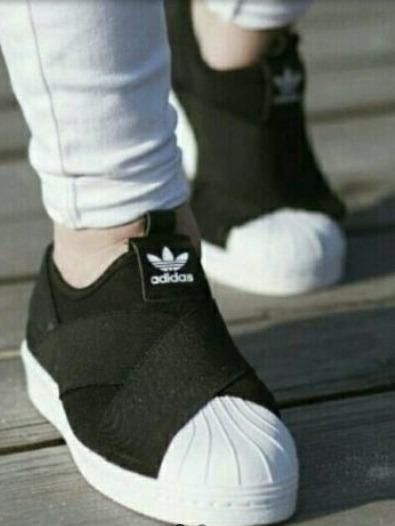 Zapatillas Slip On, Negras.