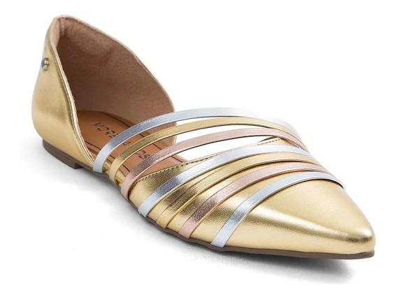 Sapatilha Bico Fino Morena Rosa Shoes Abertura Lateral