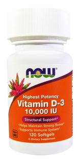 Vitamina D3 10.000 Now Foods 120 Caps