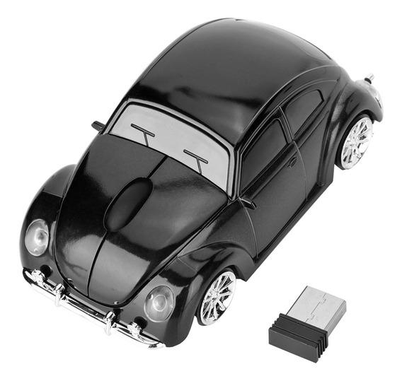 Brand New Wireless Beetle Car Shell Modelo Mouse Óptico Com