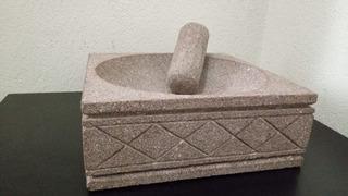 Molcajete De Piedra De Basalto Artesanía De Colima