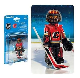 Jugador De Hockey Sobre Hielo Goalie Playmobil Nhl