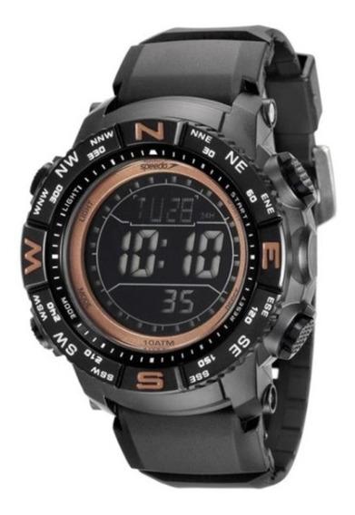 Relógio Speedo C/ Caixa E Pulseira De Plastico