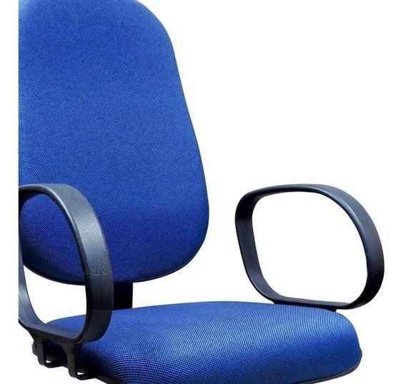 Cadeira/poltrona Presidente Giratória Azul Com Relax