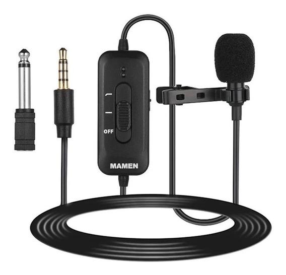 Mamen Km-d2 Microfone Lapela Onidirecional Cabo 8 Metros