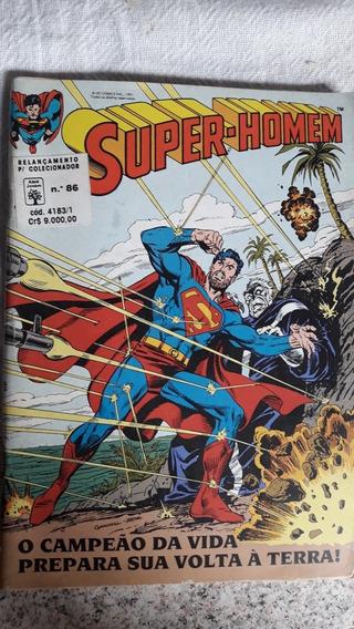 Gibi Super Homem 1991 (sem Cod Barras) Reedição 86 Para Col