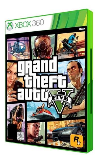 Jogo Gta V Gran Theft Auto Xbox 360 - Mídia Física Original