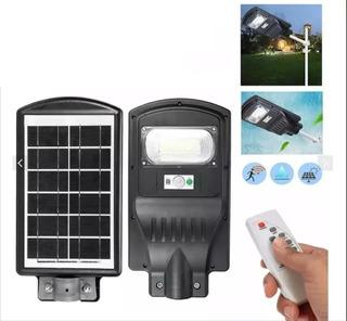 Lampara Solar Led 60w Sensor Control + Poste Soporte / 2012