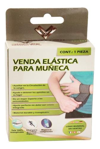 Imagen 1 de 6 de Venda Elastica Muñeca Ajusta Muñequera Vendaje Medica Vital