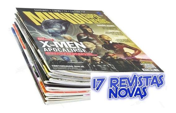 Mundo Dos Super Heróis X-men Batman 17 Revistas + Pôster