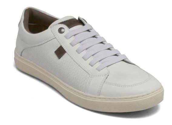 Sapatênis Rafarillo Couro Cotton Branco 12050