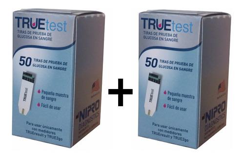 100 Tirillas Glucometro Nipro True Result + 100 Lancetas