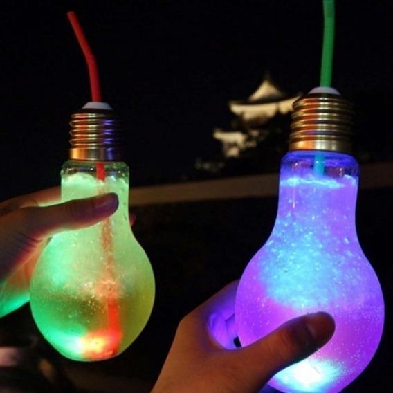 50 Vasos Luminosos Lámpara Drinky Luz Led Cotillón