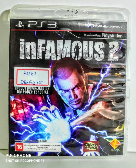 Jogos Originais Ps3 Infamous 2