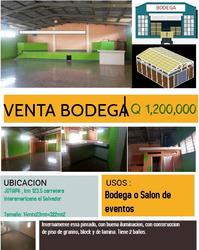 Venta De Bodega / Salon De Evento En Jutiapa