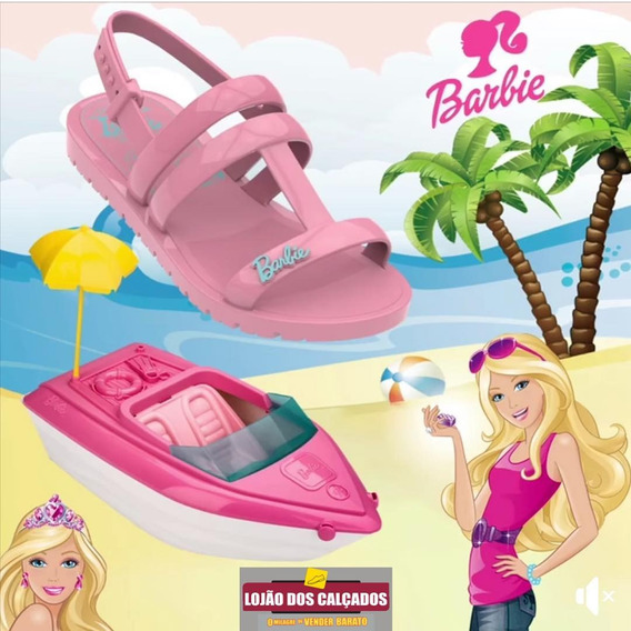 Sandália Infantil Feminina Grendene Barbie Iate 22002 Nova