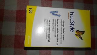 Lancetas Freestyle Optium Para Glicemias - Caja 100 Unid.