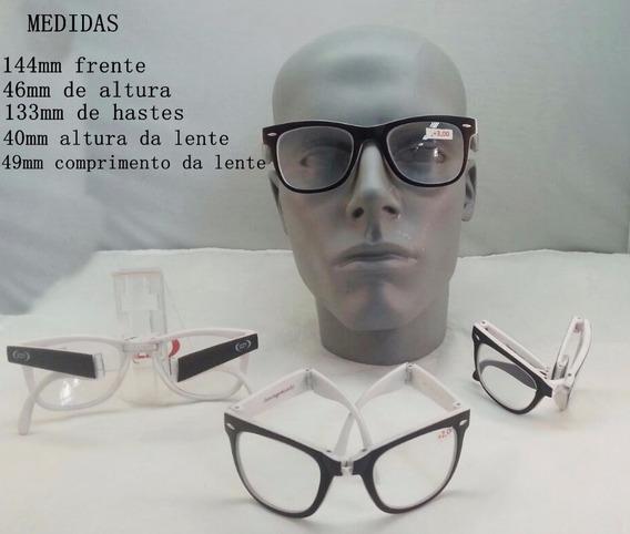 Óculos Armação Dobrável Com Lentes De Perto