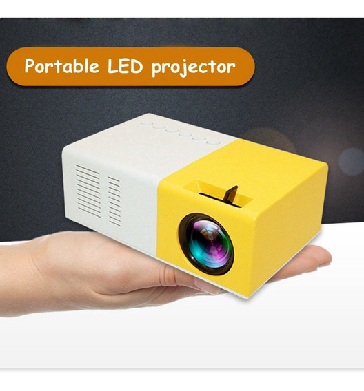 J9 1080p Mini Projetor Portátil 3000lm Cinema Multimídia