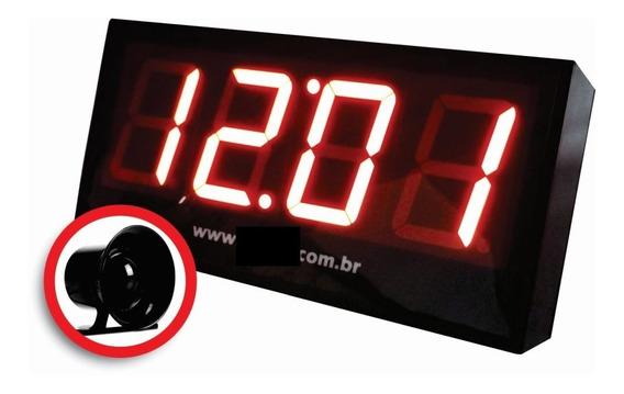 Relógio Parede Empresas C/ Sirene 20 Horários Dia Da Semana