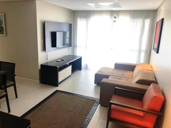 Apartamento Para Alugar Na Pituba Mobiliado 3 Quartos Sendo 1 Suíte 95m2 - Uni337 - 34480898