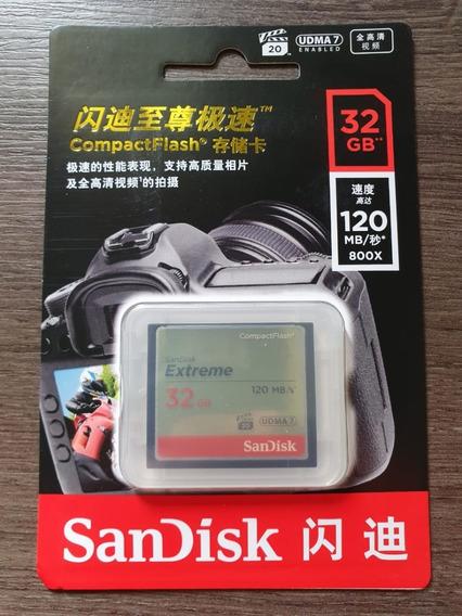 Cartão Memória Compactflash Cf 32gb