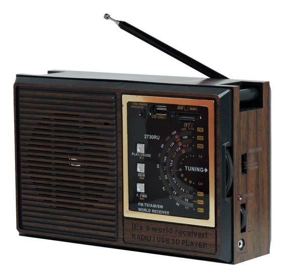 Rádio Livstar Cnn-2730ru Recarregável Am Fm 5w Rms 4 Ohms