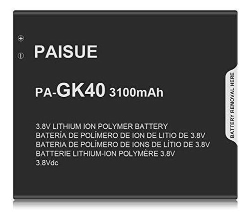 Imagen 1 de 8 de Bateria Para Motorola Gk Mayor Capacidad De Mah Bateria...