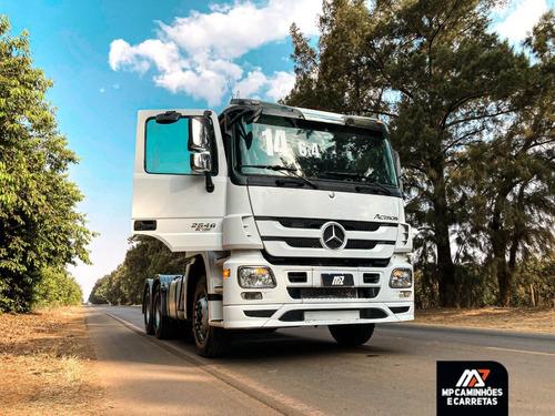 Imagem 1 de 15 de Cavalo Mecânico Mercedes-benz Actros 2646 6x4 2014 Branco